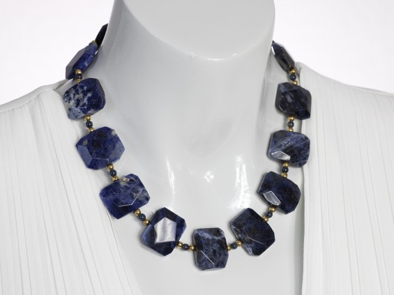 Blue sodalite necklace