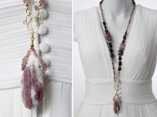 Red Tourmaline necklace with pendant