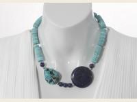 Blue Turquoise and Lapis Lazuli necklace