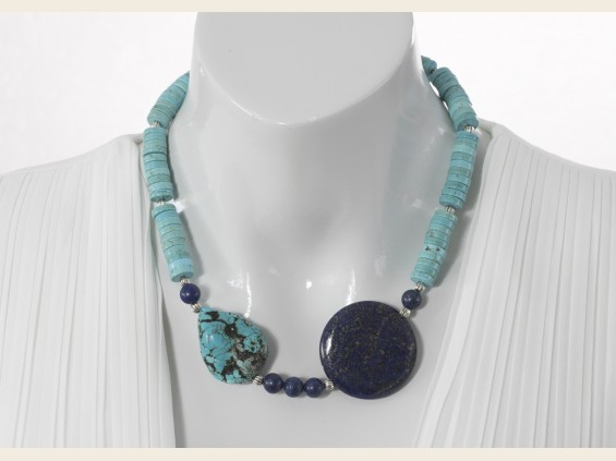 Blue Turquoise and Lapis Lazuli necklace